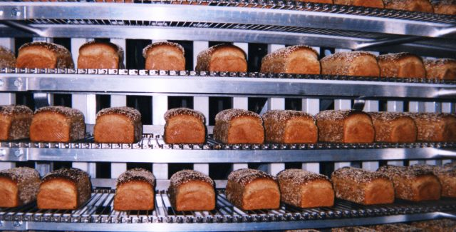 Bread Loaves on an IJ White Ultra Series Spiral Cooler