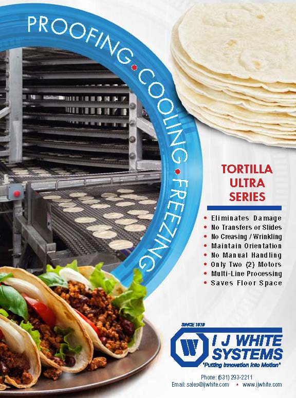Tortillas on an IJ White Ultra Series System and Beef Tacos