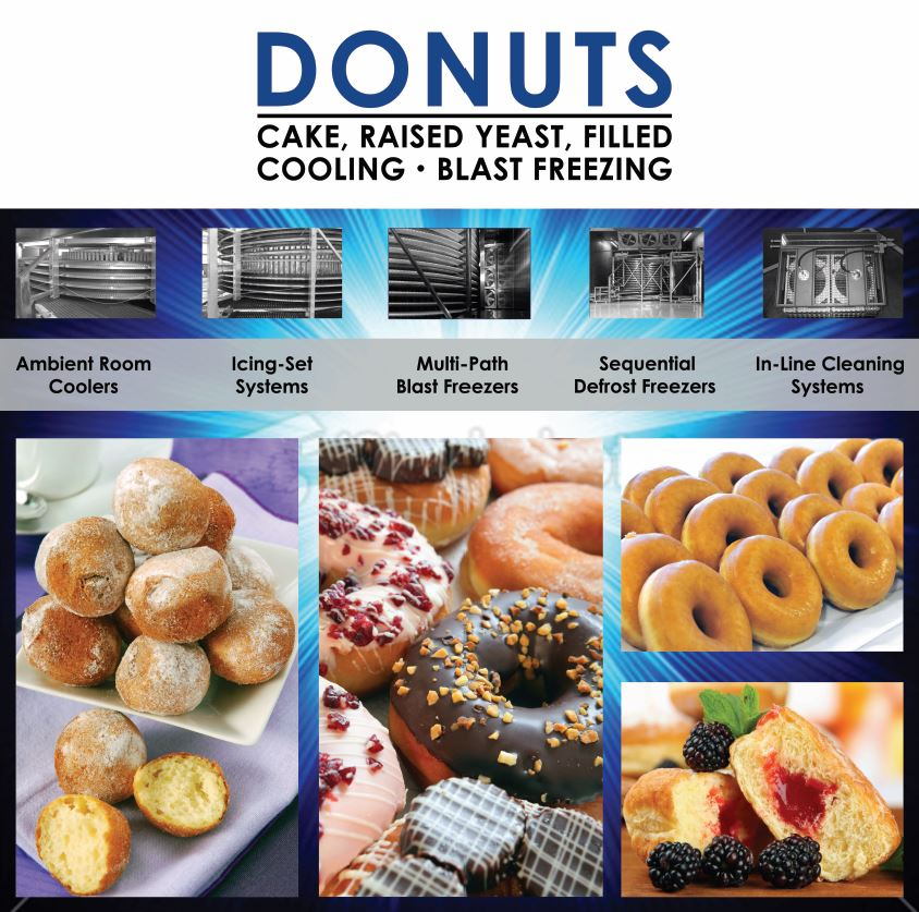 Donut Cooling,Freezing and Cleaning Systems