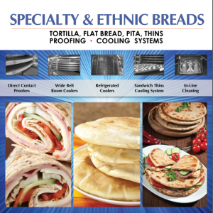Proofing and Spiral Cooling Systems for Specialty Breads - Tortilla, Flat Bread, Pita