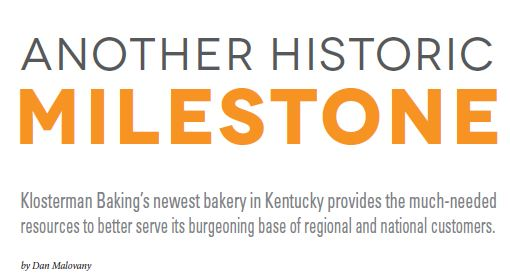Header for article about Klosterman's Baking Facility where I.J. White Spiral System is operating in Kentucky