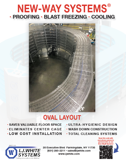 IJ White New-Way System Ad for Spiral Cooling, Freezing and Proofing